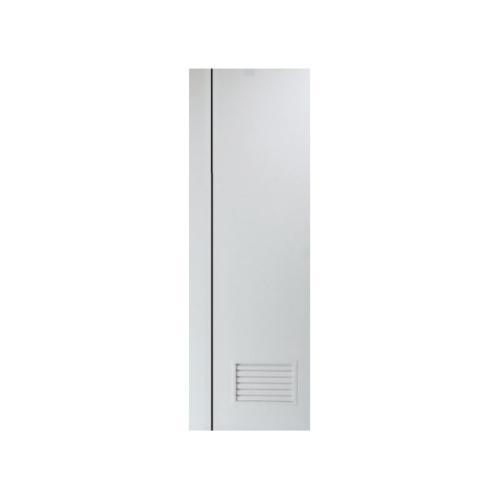 PEOPLE ประตู UPVC  เซาะร่องดำ เกล็ดล่าง 70x200 cm.(ไม่เจาะ)  MG2 สีขาว