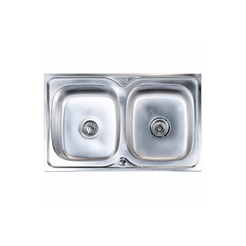 Dyna Home อ่างล้างจานแบบฝัง 2 หลุม DH-8050A สเตนเลส