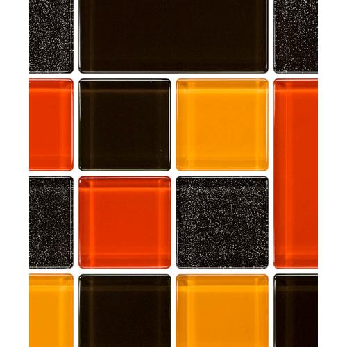 GLASCERA โมเสค เชอร์รี่ เค็ก Mosaic Pastry Series ดำ-ส้ม