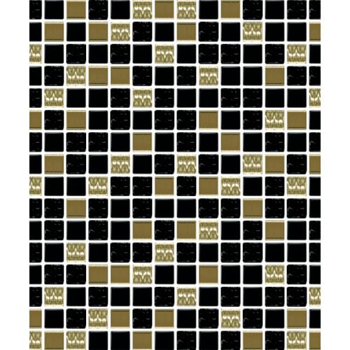 โมเสคแก้ว โบนันซ่า A. Bonanza Series ดำ-ทอง