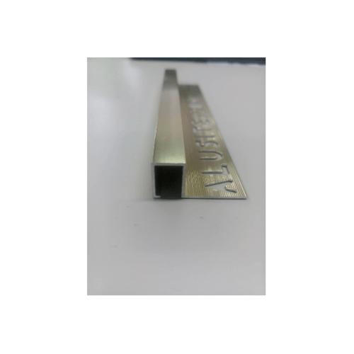 Alusite คิ้วอลูมิเนียมแบบเหลี่ยม 12 มม. ยาว 2 เมตร.  TSAP120 Bright Gold. สีทอง
