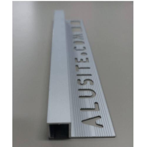Alusite คิ้วอลูมิเนียมแบบเหลี่ยม 10 มม. ยาว 2 เมตร.  TSAP100 Matt Silver.