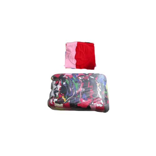 ผ้าเย็บวน ทำความสะอาด ขนาด 10นิ้ว X 10 นิ้ว น้ำหนัก 25 กิโลกรัม  คละสี