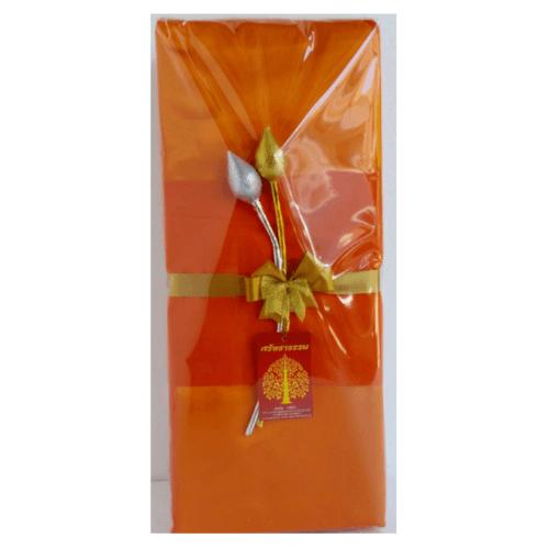 ศรัทธาธรรม ผ้าไตรอาศัย 1.90 m. (4ชิ้น) สีส้ม