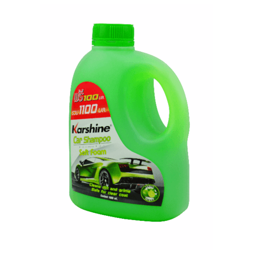Karshine แชมพูล้างรถ Karshine กลิ่นมะนาว 1000มล. Shampoo Lamon 1000 ml. เขียว