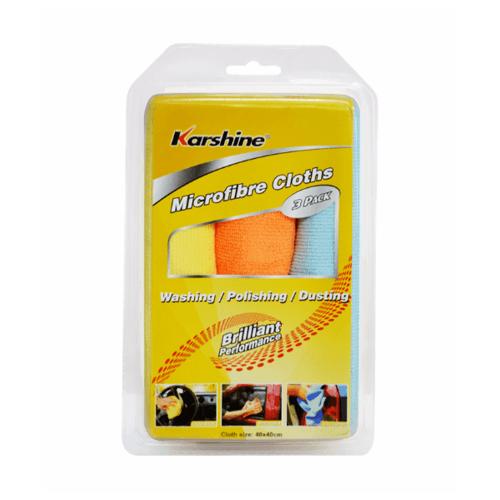 Karshine ผ้าไมโครไฟเบอร์ (3ผืน/แพ็ค ) Micro Fiber Cloths P3 40x40 cm. เหลือง