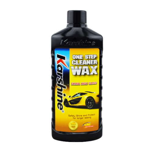 Karshine น้ำยาขจัดคราบพร้อมเคลือบเงาสีรถ Karshine 475มล. One Step Cleaner Wax 475 ml. เหลือง