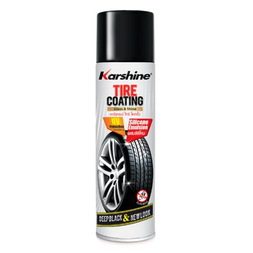 สเปร์ยเคลือบเงายางสูตรซิลิโคน Karshine 500มล. Tire Coating 500 ml. บรอน