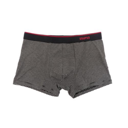 USUPSO  กางเกงบ็อกเซอร์ชายลายทางคลาสสิค XL  แถบสีดำและสีขาว