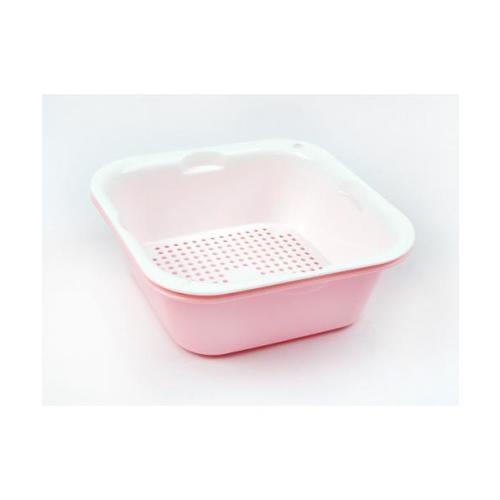 USUPSO ตะกร้าผักทรงสี่เหลี่ยม  2820 สีชมพู