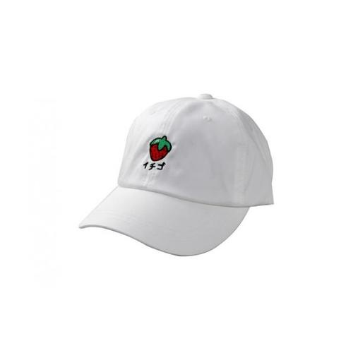 USUPSO หมวกแก๊ป Embroidered Strawberry สีขาว - สีขาว