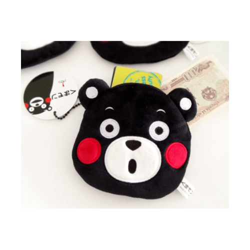 USUPSO  กระเป๋าหมี  kumamoto สีดำ