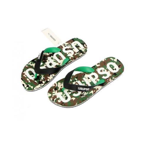 USUPSO  รองเท้าแตะผู้ชาย Sports Camo No.41 สีเขียว - สีเขียว