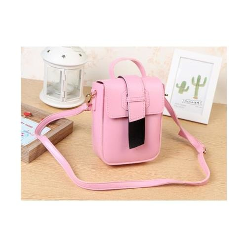 USUPSO กระเป๋าสะพายผู้หญิง - 010 สีครีม - สีชมพู
