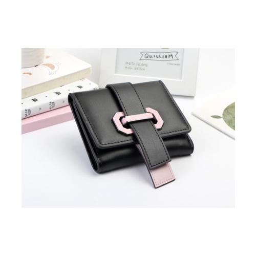 USUPSO กระเป๋าเงินผู้หญิง สีดำ