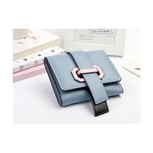 USUPSO  กระเป๋าเงินผู้หญิง  สีฟ้า