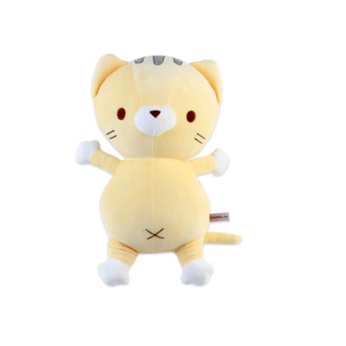 USUPSO  ตุ๊กตาแมวน่ารัก  สีเหลืองอ่อน