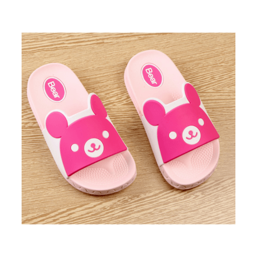 USUPSO รองเท้าเด็กรูปหมี No.25 สีชมพู