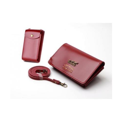 USUPSO  กระเป๋าใส่โทรศัพท์ สีแดง