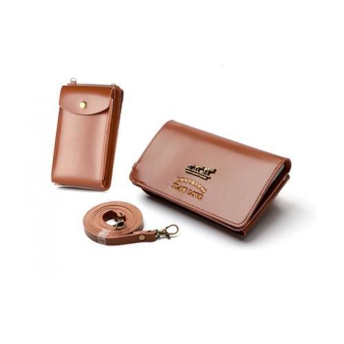 USUPSO  กระเป๋าใส่โทรศัพท์ - สีน้ำตาล