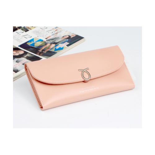 USUPSO กระเป๋าสตางค์ทรงยาว ผู้หญิง สีชมพู