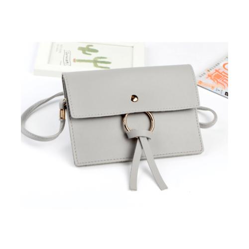 USUPSO กระเป๋าใส่มือถือ Simple ring Element  สีเทา