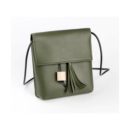 USUPSO  กระเป๋าสะพายไหล่  สีเขียว