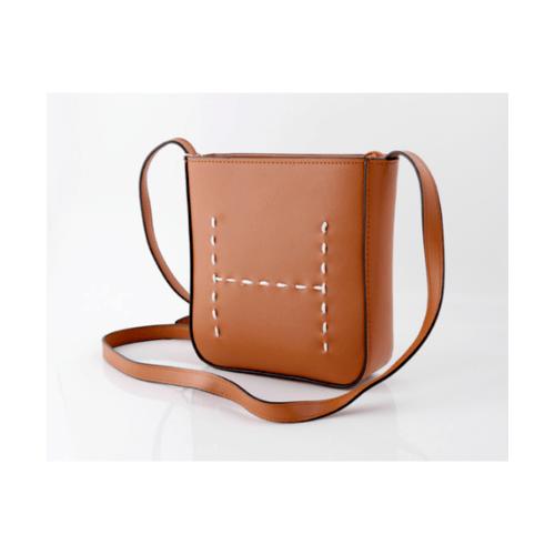 USUPSO กระเป๋าสะพายสายหมิงแบบเรียบ   - สีน้ำตาล