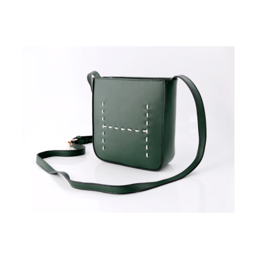 USUPSO กระเป๋าสะพายลายเส้น  สีเขียว
