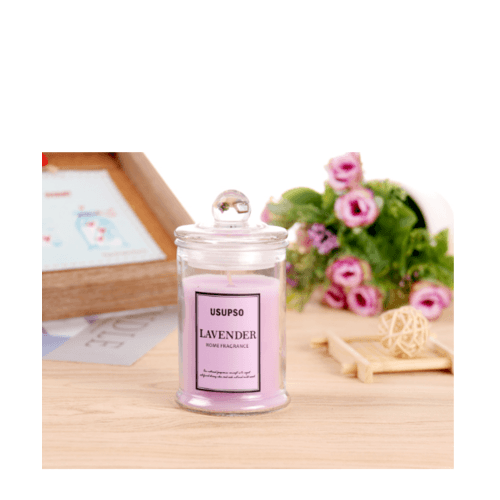USUPSO เทียนหอมอโรม่า-Lavender - สีชมพู