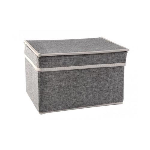 USUPSO กล่องเก็บของ  Simple linen สีเทา - สีเทา