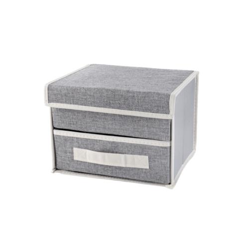 USUPSO กล่องเก็บของ  Concise linen สีเทา
