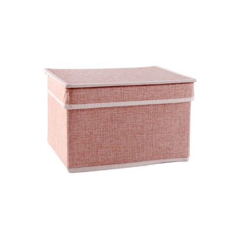 USUPSO กล่องเก็บของ  Concise small linen สีชมพู