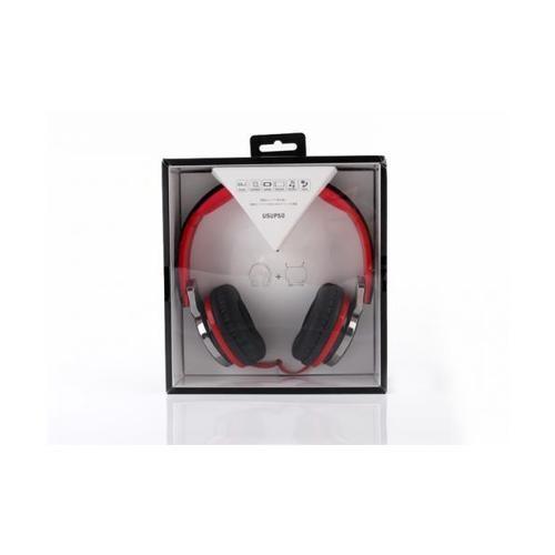 USUPSO หูฟัง HM780 ดำ - สีแดง