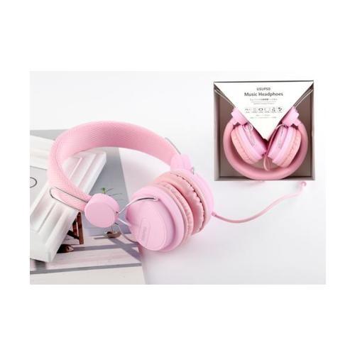 USUPSO หูฟัง  HM094  สีชมพู