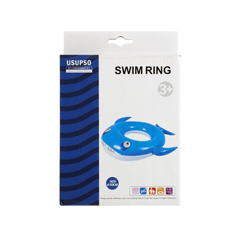 USUPSO  ห่วงว่ายน้ำสำหรับเด็ก  ลายฉลาม 50 cm. สีฟ้า