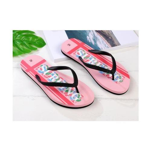 USUPSO  รองเท้าแตะผู้หญิง No.38 -Letter Print Women สีชมพู