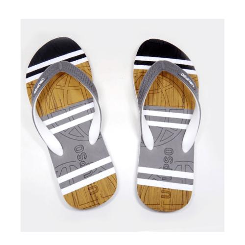 USUPSO  รองเท้าแตะชาย Striped  เบอร์ 41 สีเทา