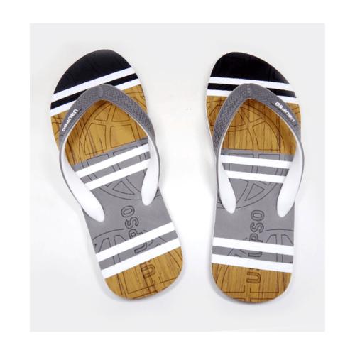 USUPSO รองเท้าแตะชาย  42 Striped สีเทา