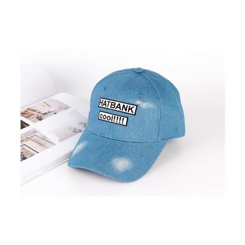 USUPSO หมวกแก๊ป Denim Embroidered สีฟ้า