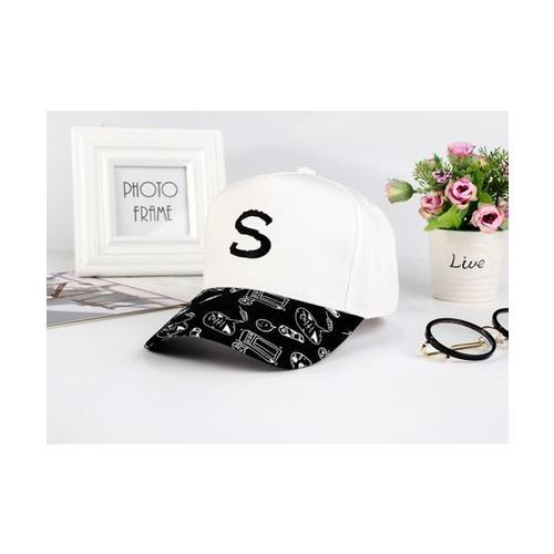 USUPSO  หมวกแก๊ป Spring and summer สีขาว - สีขาว