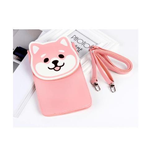USUPSO  กระเป๋าโทรศัพท์มือถือ  Zucchini zoo  สีชมพู