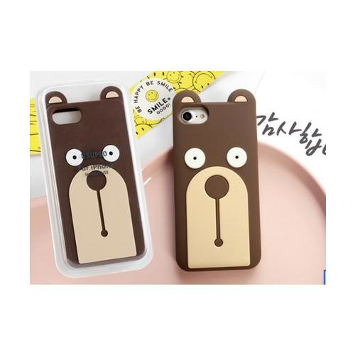 USUPSO เคสโทรศัพท์มือถือ  Straight bear I6/6S/I7/I8 สีน้ำตาล