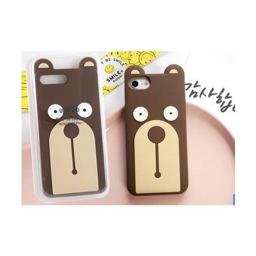 USUPSO  เคสโทรศัพท์มือถือ  Straight bear I6/6S/I7/I8 PLUS สีน้ำตาล