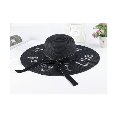 USUPSO USUPSO หมวกปีก Summer letter  สีดำ - สีดำ