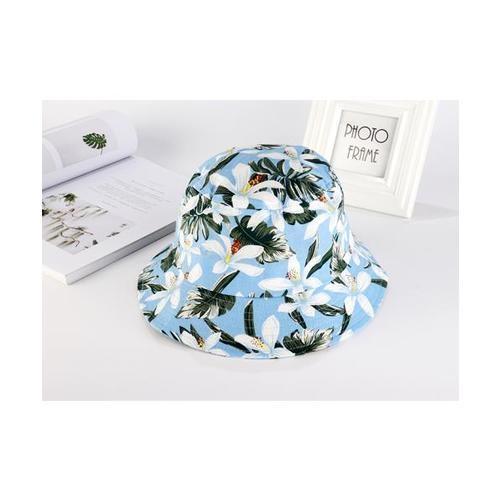 USUPSO  หมวก Flower Fisherman สีฟ้า - สีฟ้า
