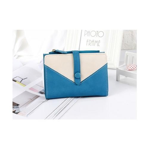 USUPSO กระเป๋าเงินผู้หญิง สีน้ำเงิน - สีน้ำเงิน