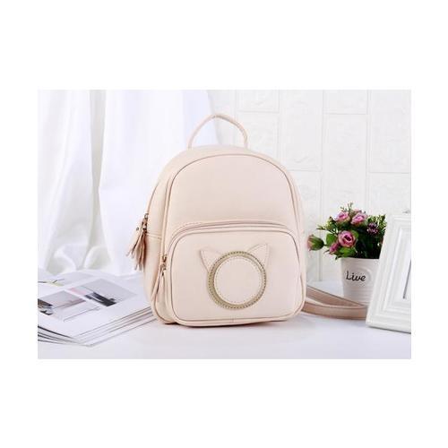 USUPSO  กระเป๋าเป้สีขาว - สีชมพู