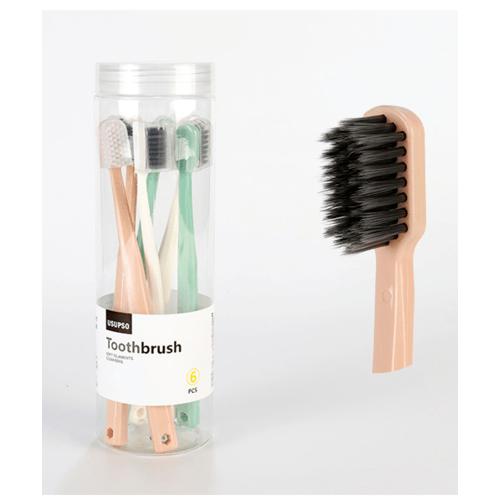 USUPSO  ชุดแปรงสีฟัน 6 ชิ้น -