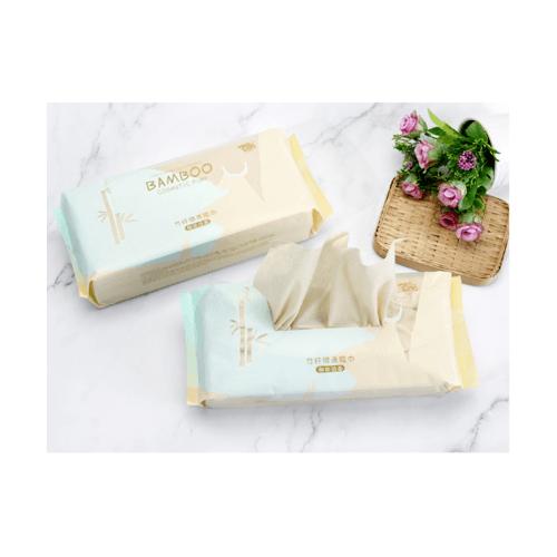 USUPSO กระดาษทิชชู่  Bamboo 70 แผ่น สีน้ำตาลอ่อน